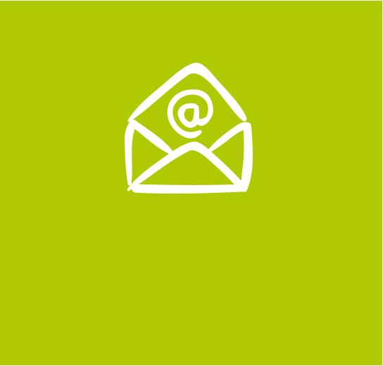 Schreib' uns eine E-Mail